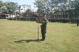 Penyampaian Kegiatan TMMD Sengkuyung I Desa TAngkisan Kecamatan Tawangsari